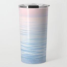 Dreamy Pastel Seascape 2. Blue & Nude #pastelvibes #Society6 Travel Mug