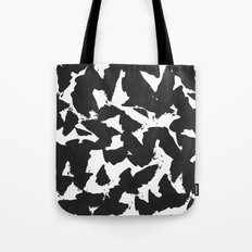 Black Bird Wings on White Tote Bag
