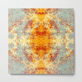 Lunur - Abstract Boho Chic Tie-Dye Style Mandala Art Metal Print