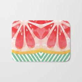 Red Grapefruit Abstract Bath Mat