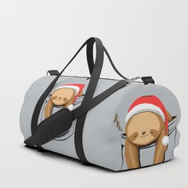 Sloth in a Pocket Xmas Duffle Bag