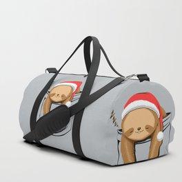Sloth in a Pocket Xmas Duffle Bag