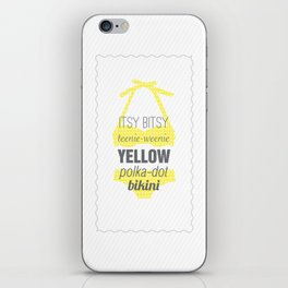 Yellow Polka Dot Bikini iPhone Skin