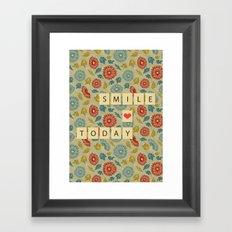 Smile Today Framed Art Print
