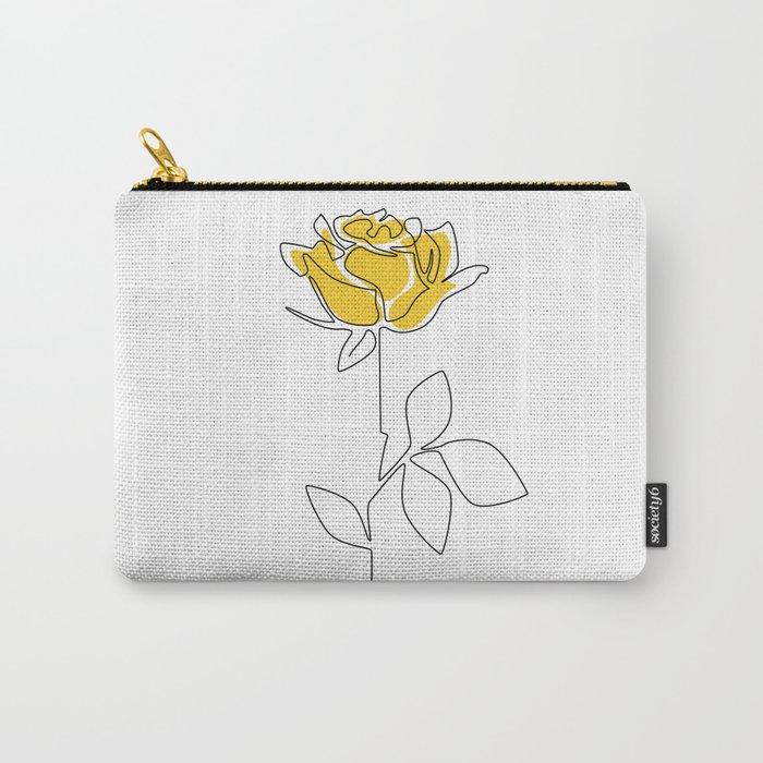 Lemon Rose Carry-All Pouch