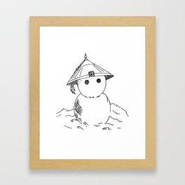 Cute Asian Snowman Framed Art Print