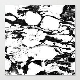 Black And White Wet Watercolour Paint Textur Canvas Print