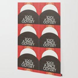 2001 A Space Odyssey - Stanley Kubrick minimalist movie poster, Red Version, fantasy film Wallpaper