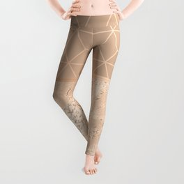 MARBLE HAZELNUT ROSEGOLD & HEXAGONAL Leggings