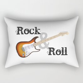 Rock and Roll Guitar Rectangular Pillow