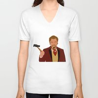 calvin and hobbes V-neck T-shirts featuring Calvin Candie - Django Unchained by Tom Storrer