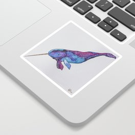 Starwhal Watercolor Painting by Imaginarium Creative Studios Sticker