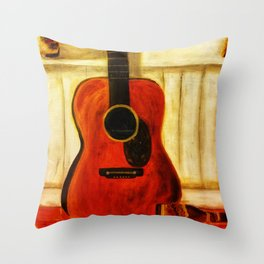 Tex's Guitar Throw Pillow