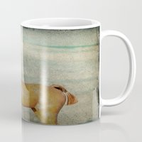 pony Mugs featuring Beach Pony by Bella Blue Photography