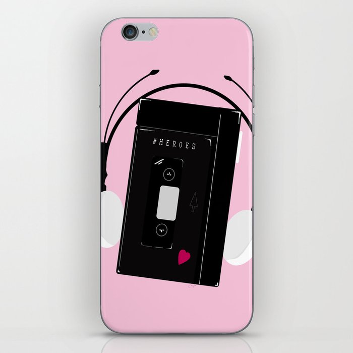 I hear synthwave music iPhone Skin