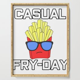 Awesome Trend Design Fryday Tshirt Casual fryday Serving Tray