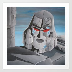 Transformers Megatron G1: It's Over Prime! Art Print
