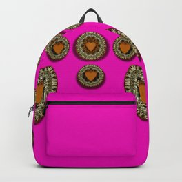 Sweet hearts in  decorative metal tinsel Backpack