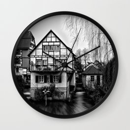 Old timbered house Wall Clock