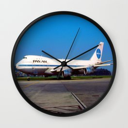 PanAm 747 Clipper Wall Clock