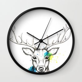 Stag I Wall Clock