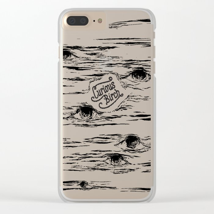Curious Birch Clear iPhone Case