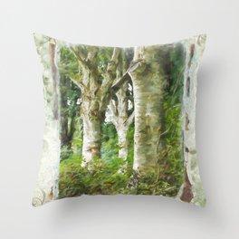 Standing Strong - Autumn Art Throw Pillow