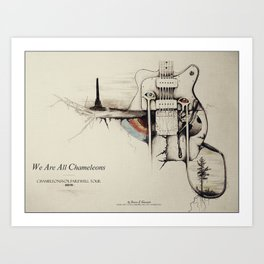 """""""We Are All Chameleons"""" - ChameleonsVox 'Script of the Bridge' 2015 Farewell Tour Art Print"""