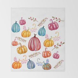 Pumpkins Joy Throw Blanket