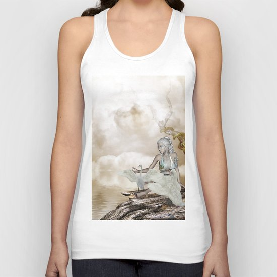 Fairy and the swan Unisex Tank Top