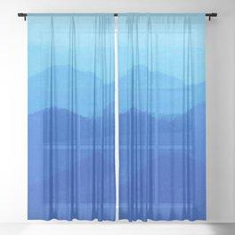 Hunter Mountain Spring Sheer Curtain