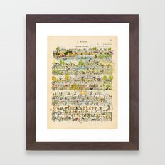 happy tunes Framed Art Print