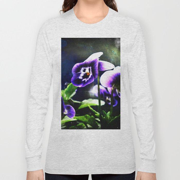 Violet Johnny Jump Ups And Stars Long Sleeve T-shirt