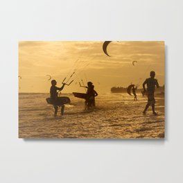 Kitesurfing Metal Print