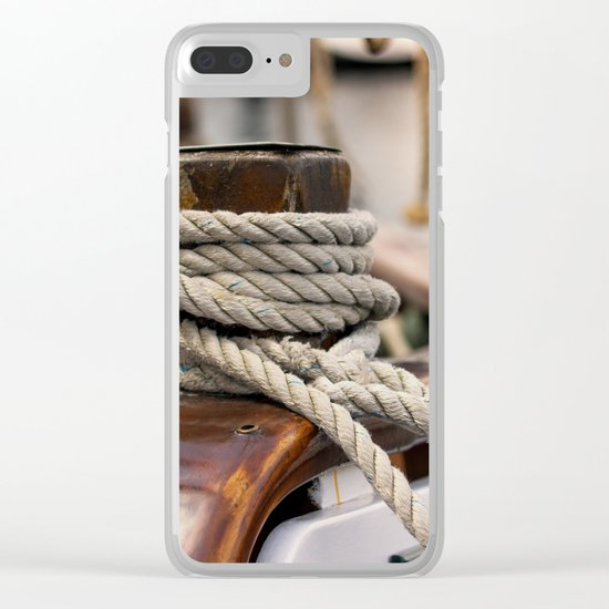 linen rope from the old ship Clear iPhone Case