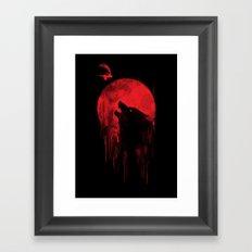 wolf hunter Framed Art Print
