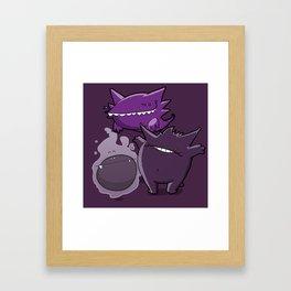 Pokémon - Number 92, 93 & 94 Framed Art Print