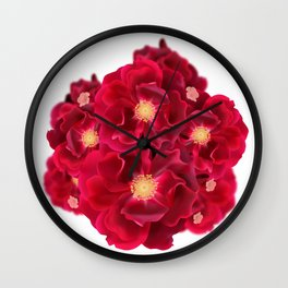 Floral Ink Wall Clock
