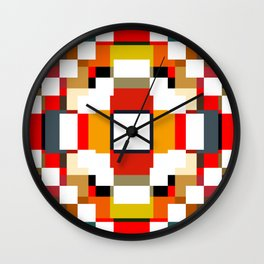 multicolored spatial geometric shellycoat Wall Clock
