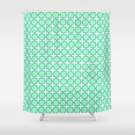 Mint Turquoise Pattern Shower Curtain