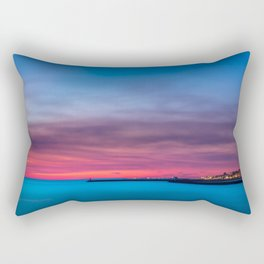 Red sunset over Porto Rectangular Pillow