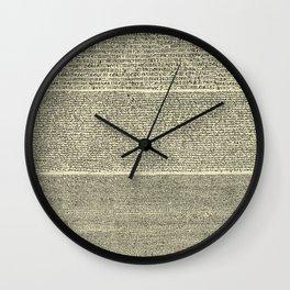The Rosetta Stone // Parchment Wall Clock