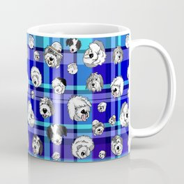 Plaid Sheepies Blue Coffee Mug