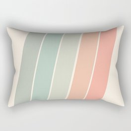 Trippin' - retro 70s socal minimal striped abstract art california surfing vintage Rectangular Pillow