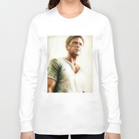 ryan gosling Long Sleeve T-shirts featuring Ryan Gosling - Drive by Hilary Rodzik