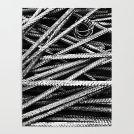 Rebar And Spring - Industrial Abstract Poster