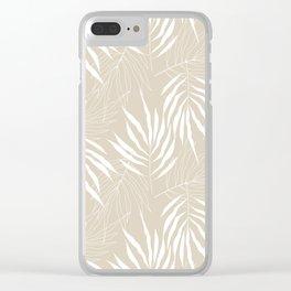 Ash Tree Leaves Scandinavian Pattern Clear iPhone Case