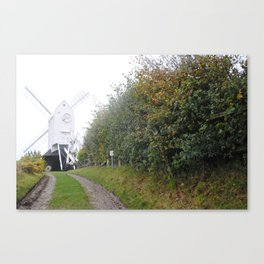 Jack and Jill Windmill at the end of the lain Canvas Print