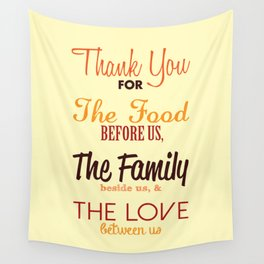 Thanksgiving Grace | Fall Colors Wall Tapestry
