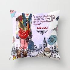 Department Store Saga Throw Pillow